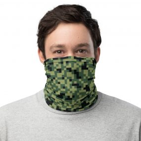 camouflage 3 custom face mask neck gaiter