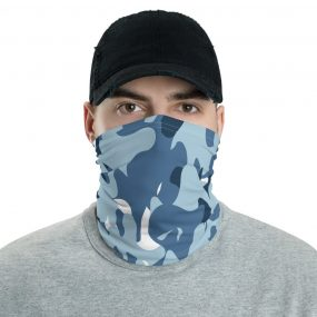 custom blue camouflage face mask bandana