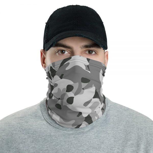 Military Blue Camouflage Pattern Custom Neck Gaiter Face Mask