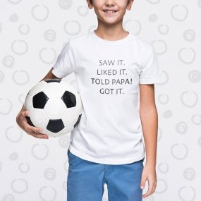 saw it liked it custom kids t-shirt