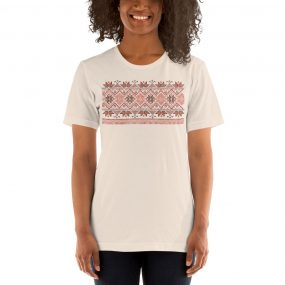 tatreez design pattern 4 embroidery cream tshirt