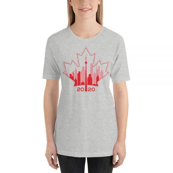 happy Canada day toronto skyline grey t-shirt
