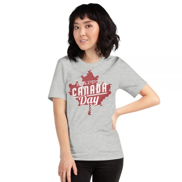 happy Canada day heather grey t-shirt for men and women
