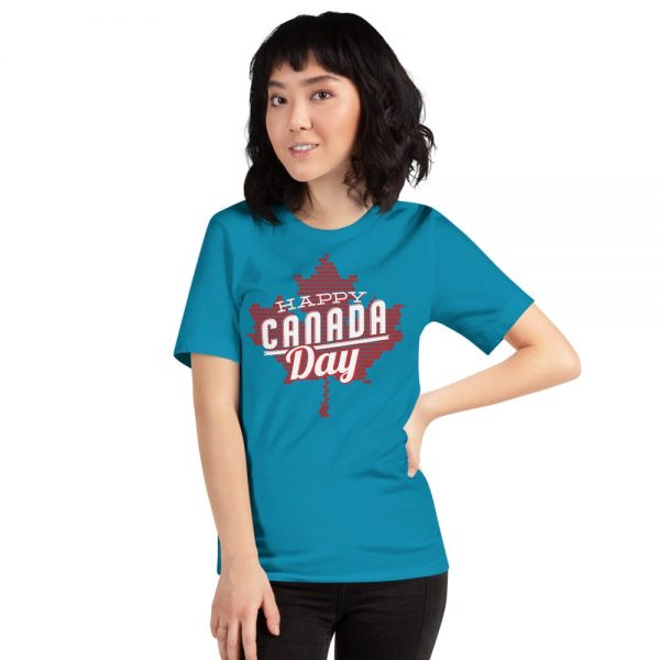happy Canada day blue t-shirt for men and women