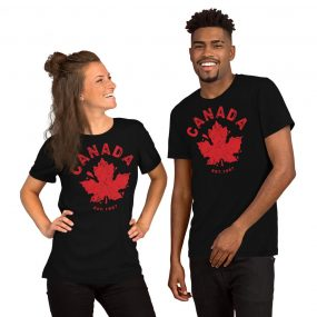 canada established 1867 black t-shirt