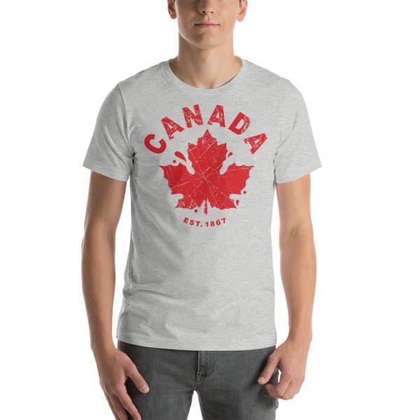 canada established 1867 grey t-shirt