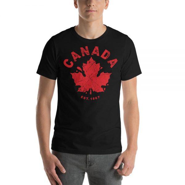 canada established 1867 black t-shirt