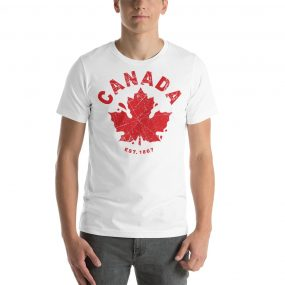 canada established 1867 white t-shirt