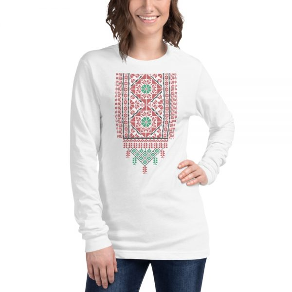 tatreez design pattern 2 embroidery white t-shirt