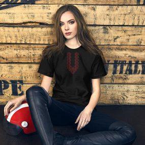 tatreez design pattern 1 embroidery black tshirt