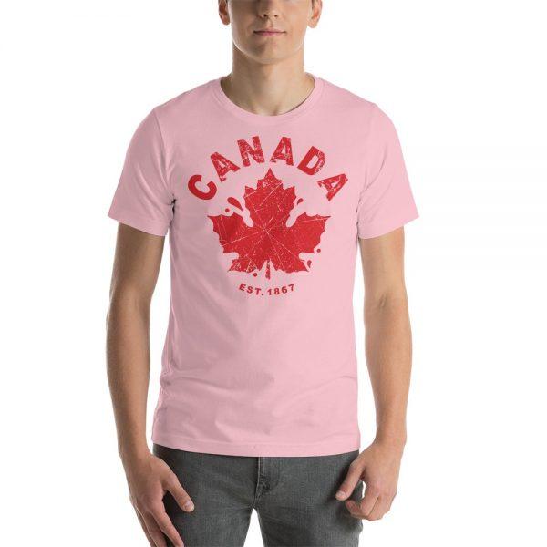 canada established 1867 pink t-shirt