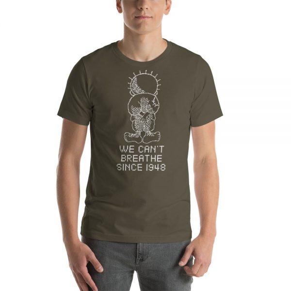 palestine hanthalah we can't breathe army tshirt
