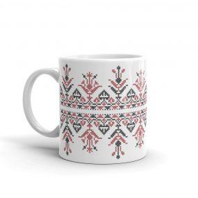black-red embroidery design 5 mug