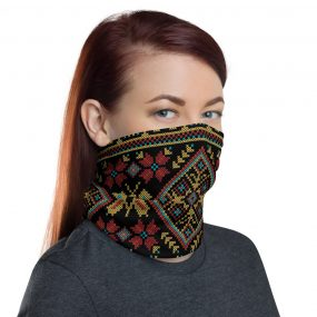 ukrainian embroidery face mask neck gaiter