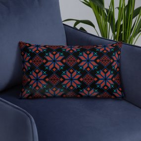 palestinian embroidery tatreez pillow