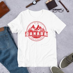 canada mountains discover t-shirt