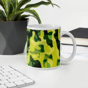 camouflage pattern 2 mug