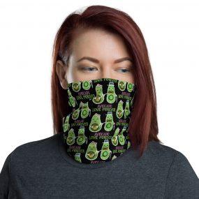 avocado love forever custom neck gaiter face mask