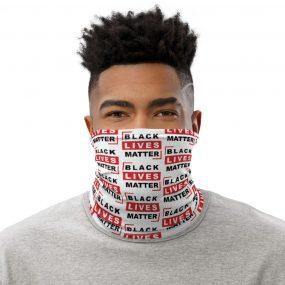black lives matter quote custom neck gaiter