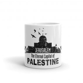 jerusalem capital of palestine coffee gift mug