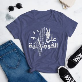 palestine alli el kufiyah women's t-shirt