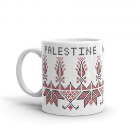 free palestine tatreez gift mug