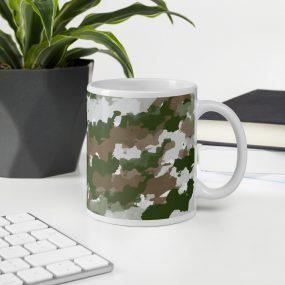 camouflage pattern 8 custom gift mug