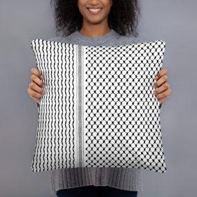 palestine hatta kufiya pattern custom accent pillow