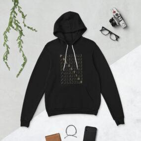 palestine name pattern hoodie