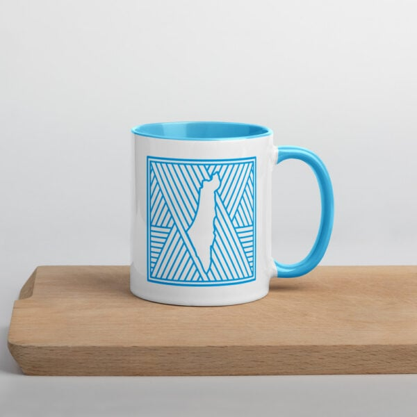 palestine map in pattern design custom printed mug