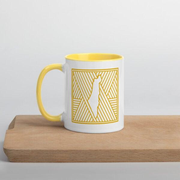 palestine map in pattern design custom photo mug