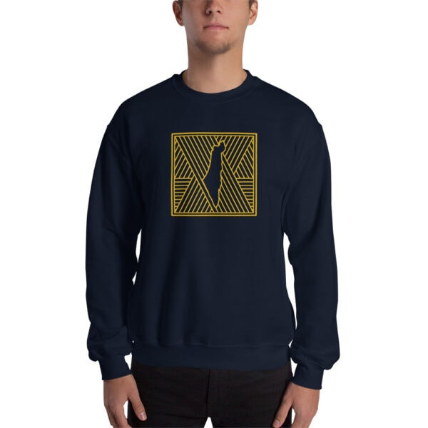 palestine map in pattern design custom sweatshirt for men