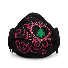 i love lebanon custom face mask
