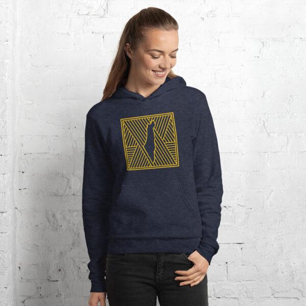 palestine map in pattern design custom hoodie for women