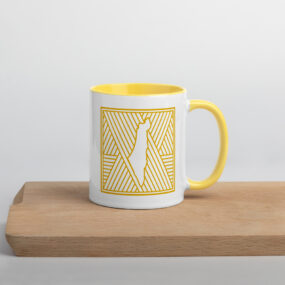 palestine map in pattern design custom mug