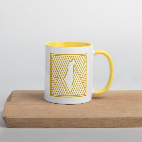 palestine map in pattern design custom mug