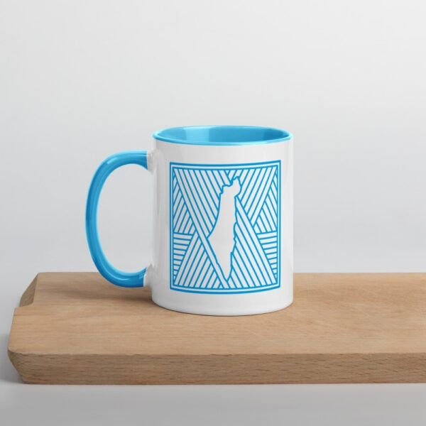 palestine map in pattern design custom gift mug