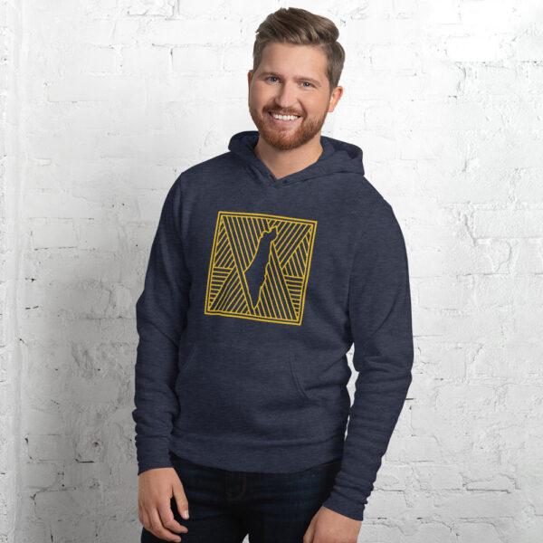 palestine map in pattern design custom hoodie for men