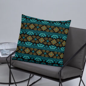 palestinian tatreez accent pillow