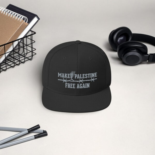 make Palestine free again embroidered hat
