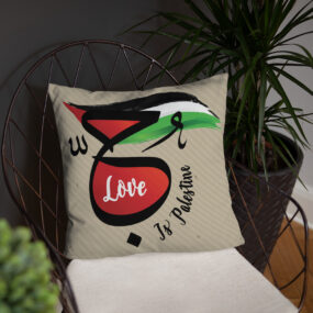 love is Palestine decorative pillow