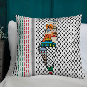 Palestinian map customized decorative pillow