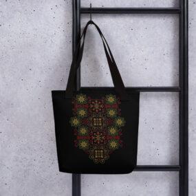 palestinian tatreez art hand bag