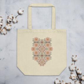 palestinian embroidery tatreez tote bag