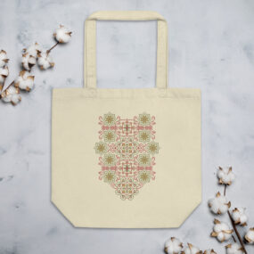 palestinian tatreez design hand bag
