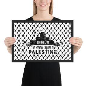 jerusalem capital of palestine framed poster