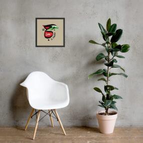 love is Palestine framed poster