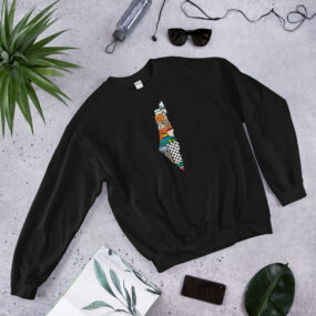 Palestinian map sweatshirt