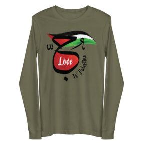 love is palestine custom long sleeve tee