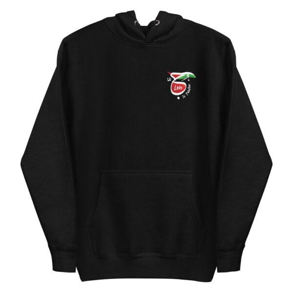 Love is Palestine custom hoodie